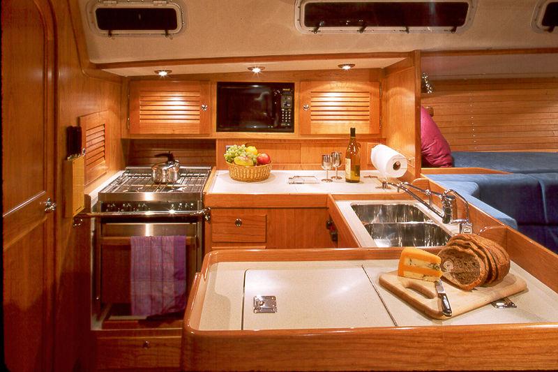 Камбуз парусной яхты